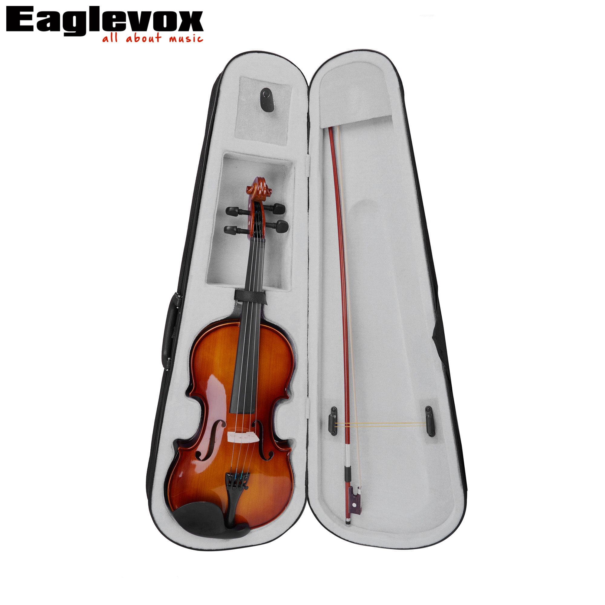 1/2 Violin Maple Back and Sides Pinus Bungeana Top with Lightweight  Hard Case handmade new solid maple wood brown acoustic violin violino 4 4 electric violin case bow included
