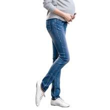Elastic Waist 100% Cotton Maternity Jeans Pants For Pregnancy Clothes For Pregnant Women Legging Autumn Winter 2018 Plus Size