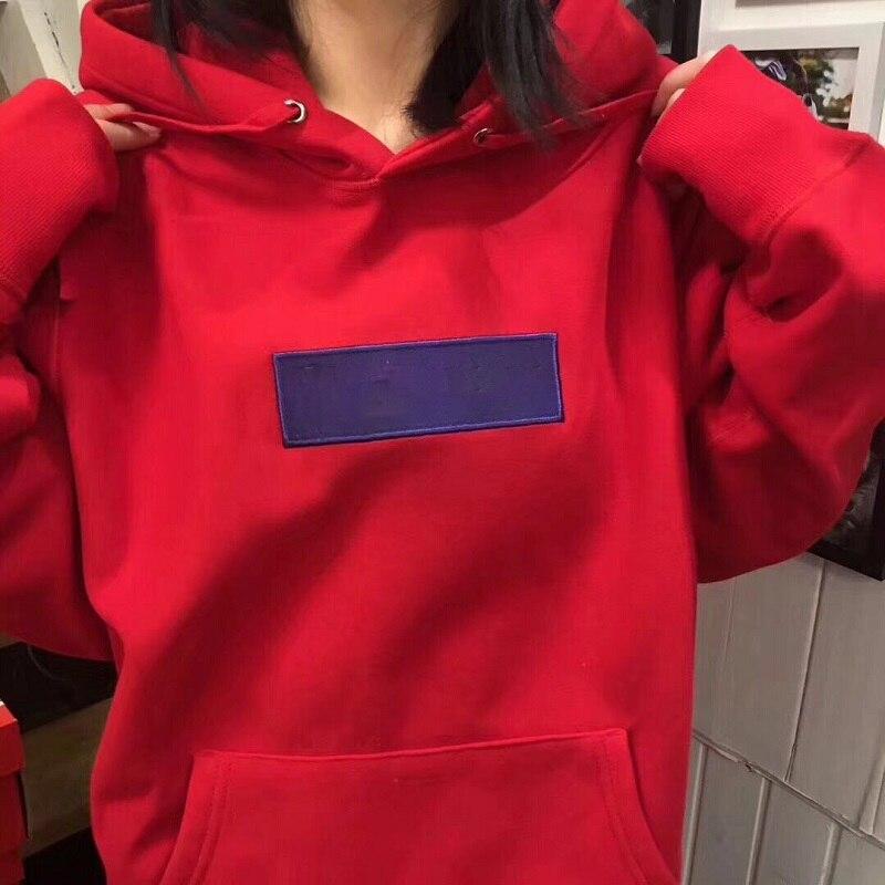 FAHION new brand 17FW box logo hoodie hooded sweatshirt 2018 high Quality Hip Hop Streetwear letter Fleece Hoodie