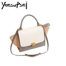 купить YeeSupSei Fashion Designer Trapeze Bag Lady Smiley Bag Leather Tote Bag Luxury Women Handbag Shoulder Crossbody Messenger Bag дешево