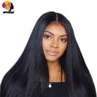 Remyblue 360 кружевных фронтальных париков перуанские прямые волосы парик с волосами младенца Remy человеческие волосы натуральный черный парик ф