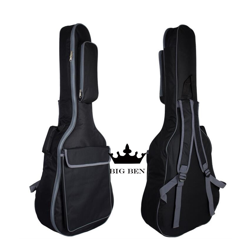 Thickening 36inch cotton guitar bag 40 41inch ballad guitar bag black classic design featuring strong moistureproof