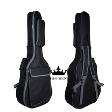 Thickening 36inch cotton guitar bag 40 41inch ballad guitar bag black classic design featuring strong moistureproof backpack