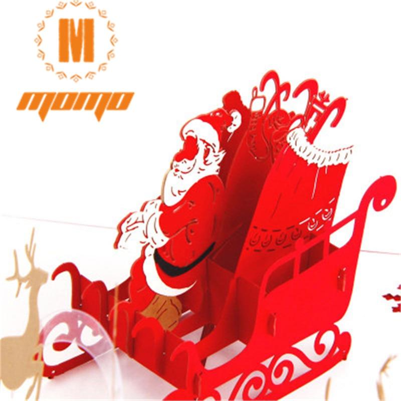 Buon Natale 3d.3 Pz Set Di Buon Natale 3d Pop Up Biglietto Di Auguri Cartolina