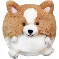 Squishable Plush Corgi Dog Ball Shape Puppy Pet With Short Leg Stuffed Pillow Cushion Toy Gift Freeshipping