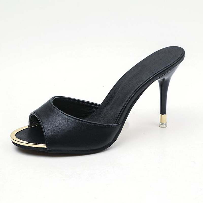 Women high heels shoes 2018 new arrival summer thin heel shoes sexy black slippers women comfortable women sandalsWomen high heels shoes 2018 new arrival summer thin heel shoes sexy black slippers women comfortable women sandals