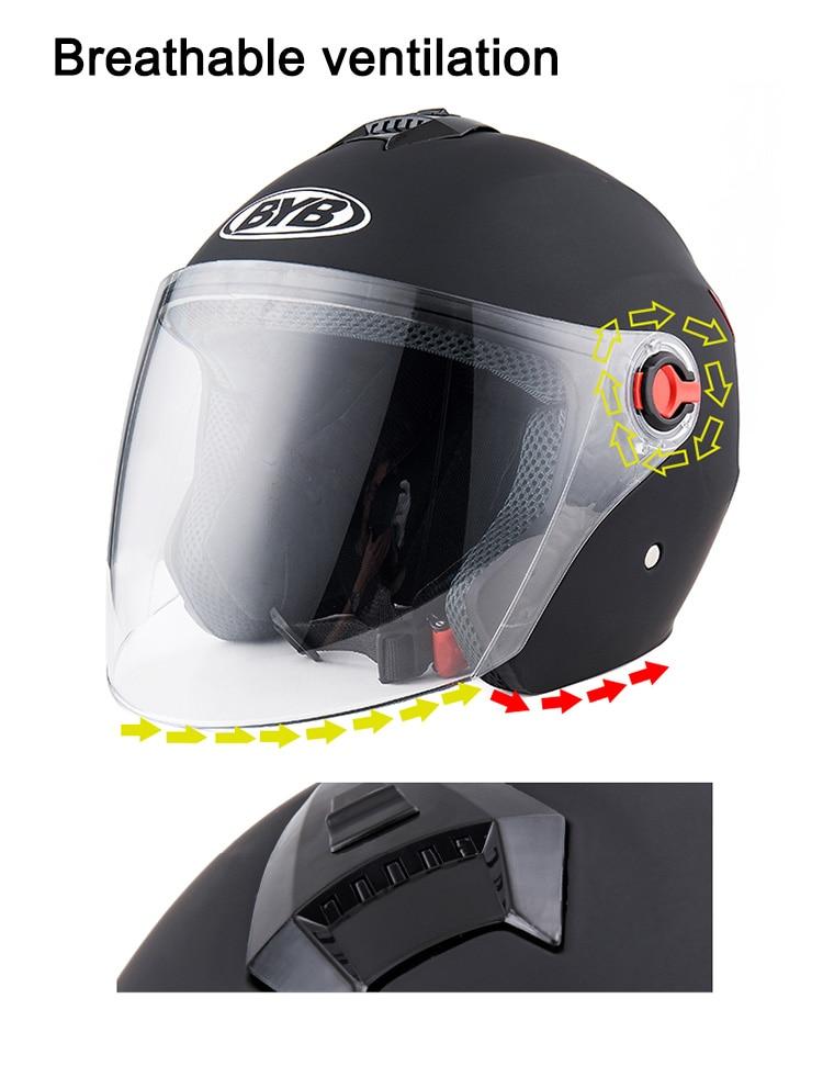 Image 5 - Motorcycle vintage Helmet Four Seasons Racing Half Helmets Motorbike capacete de motocicleta cascos para moto for Women/Men-in Helmets from Automobiles & Motorcycles