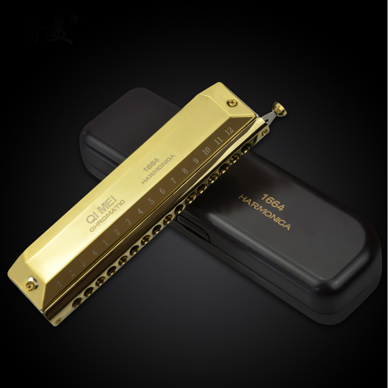 Harmonica  16 Hole 64 Tone Mouth Organ Instrument Blues Instrumentos Chromatic Harmonica Key C Professional Musical Instruments easttop brass chromatic harmonica 16 hole brass abs comb musical instruments mouth organ chromatic slide harmonica good sound