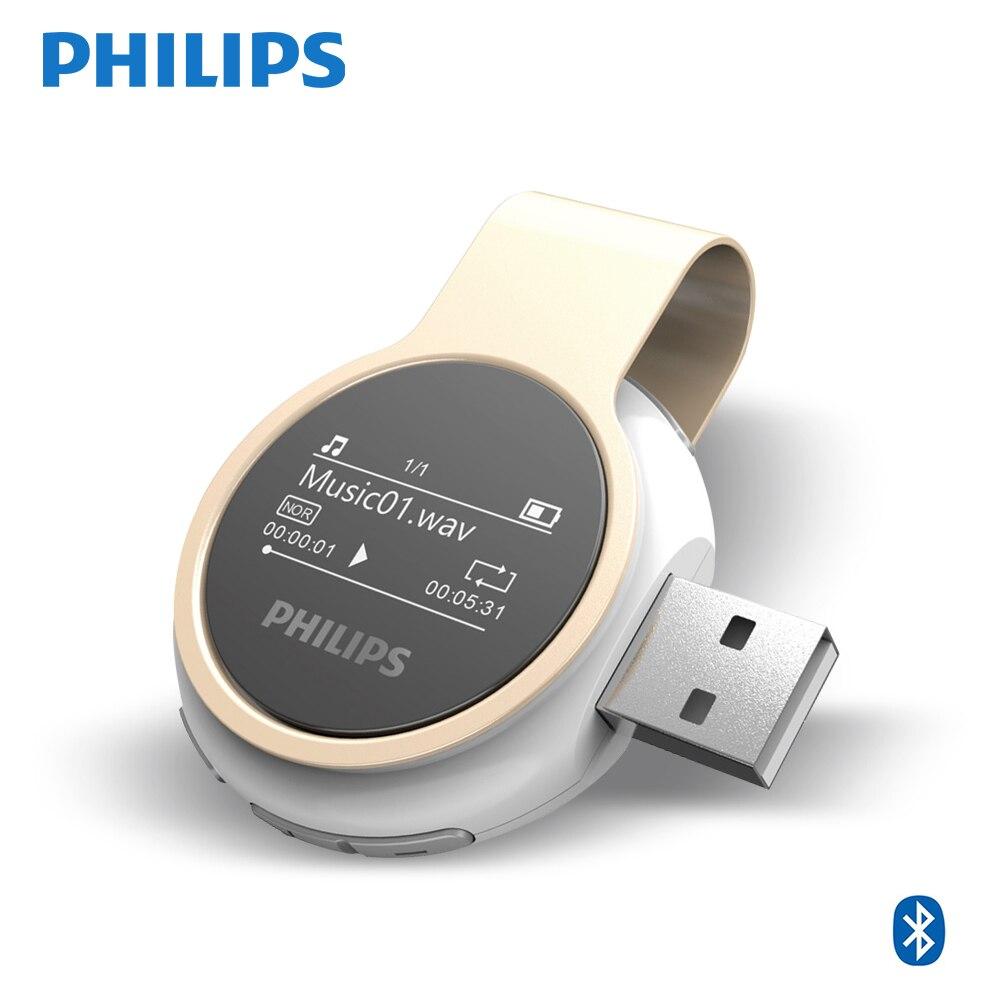 PHILIPS SA5608 New Design Build in FM Radio Recorder MP3 Player With Mini Clip Support Walk