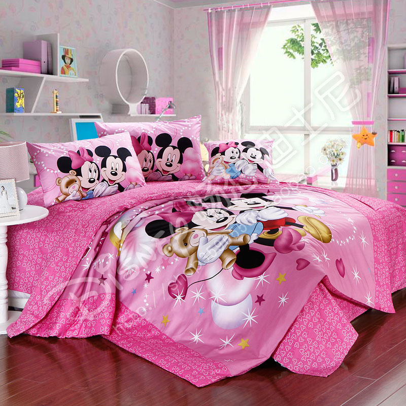 Free Shipping Queen Size Mickey Mouse Bedding Child Set Duvet Cover Comforter Bed Sheet In Sets From Home Garden On