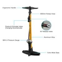 160PSI Bicycle Floor Pump High Pressure Bike Floor Pump with Pressure Gauge For Presta and Schrader Valve