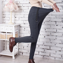 Брюки для беременных женщин с регулируемой талией, эластичные свободные, плюс размер, тонкие хлопковые брюки для беременных, леггинсы для мам, YH-17
