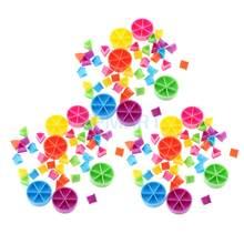 Opakowanie 126 sztuk trywialne pościg kawałki gry Pie kliny części nauka frakcji matematycznych dzieci DIY zabawki prezent