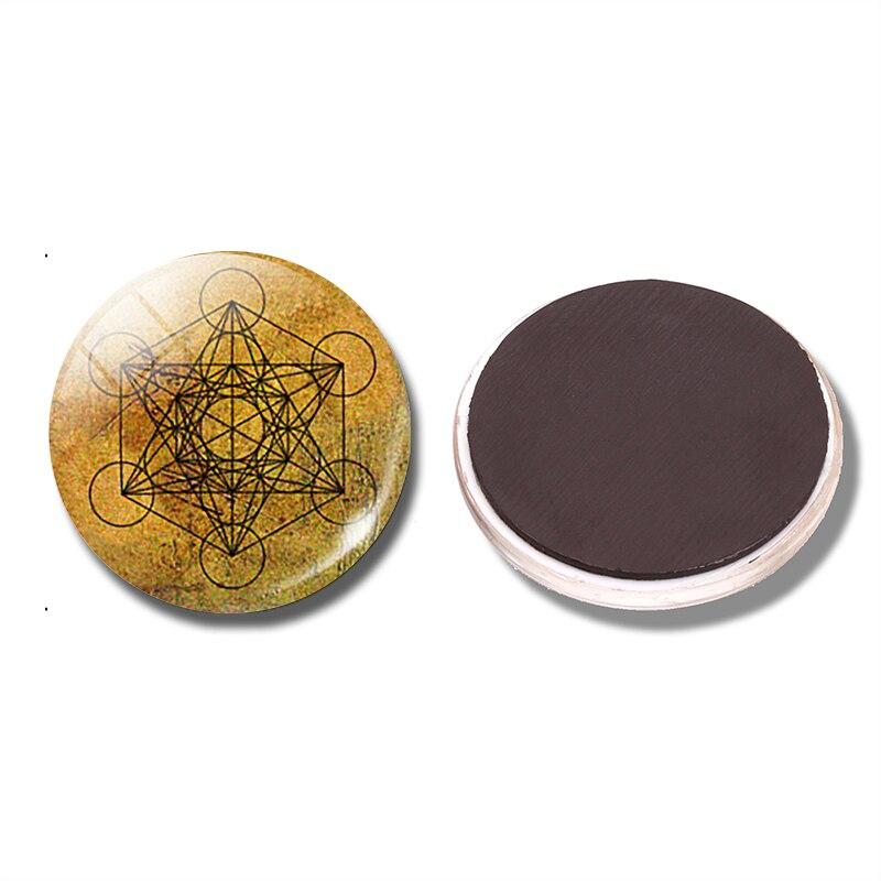 Кубик Метатрона 30 мм магнит на холодильник Священная Геометрия геометрический стеклянный купол магнитные наклейки на холодильник держатель для нот домашний декор