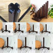 1Pcs Art Wooden Display Stand Support Holder for Art Photo Picture Frame Bowl Plate Cookbook Notebook Display for Home Kitchen(China)