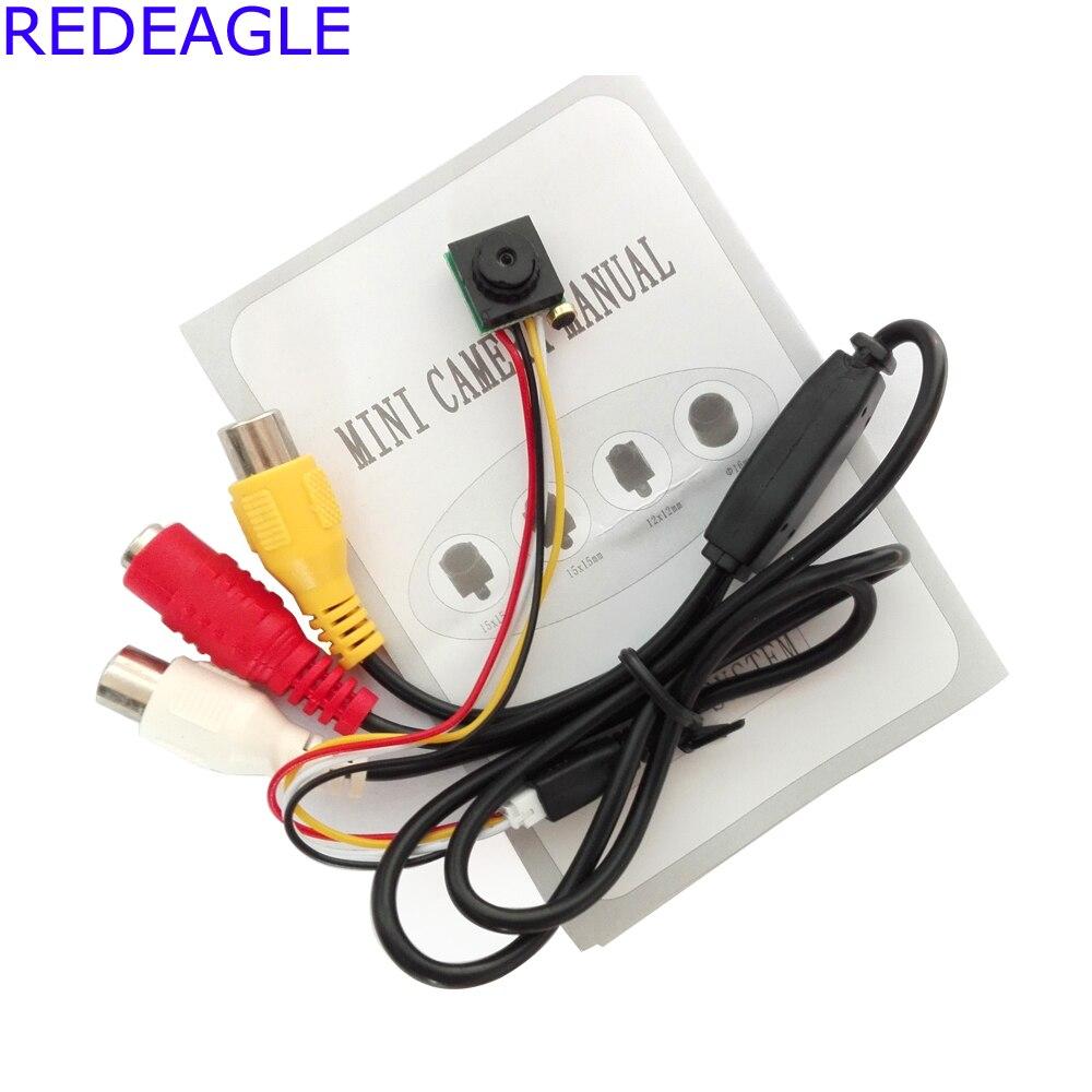 Aguila Roja 700TVL Mini Home seguridad vigilancia cámara de vídeo Micro CMOS Sensor negro