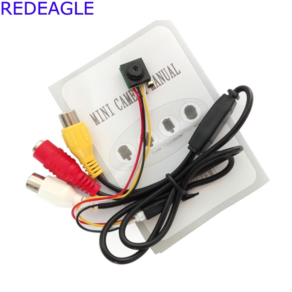 REDEAGLE 700TVL Mini Home Security Surveillance Video Camera Micro CMOS Sensor Black