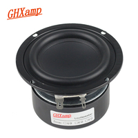 GHXAMP 3 INCH Subwoofer Woofer Speaker Small Steel Gun Speaker Flax Cone Long Stroke 2 Way