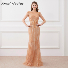 Angel Novias Luxury Long Mermaid Evening Dress 2018
