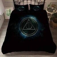 HELENGILI 3D Bedding Set Harry Potter Print Duvet Cover Set Bedcloth with Pillowcase Bed Set Home Textiles #HLBT 34