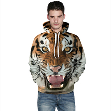 New 3D Printed Tiger Fashion Sweatshirts Long sleeve with hat Cosplay Tiger Costume Men Women Hoodies Animal Cosplay Sweatshirts