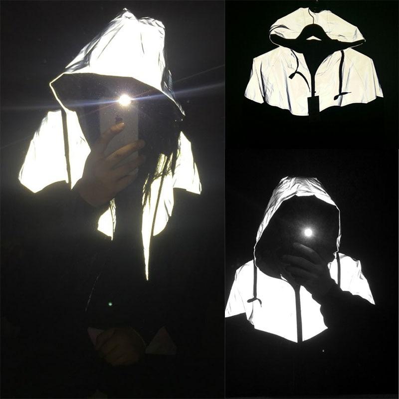 남자 재킷 캐주얼 힙합 반사 자켓 의류 야외 밤 재킷 - 남성 의류 - 사진 6