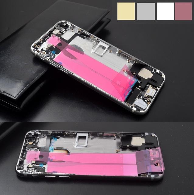 """Completo Asamblea Bisel + parte completa carcasa trasera Para iPhone 6 s plus 5.5 """"Volver batería cubierta de la carcasa intermedia junta de Metal vivienda + 1 xfilm"""