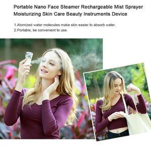Image 2 - Rechargeable Nano Face Steamer Mister Facial Sprayer Beauty Sauna Hydrating USB Ultrasonic Humidifier Skin Care Tool