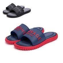 Мужские шлепанцы; сезон лето; коллекция года; мужские Нескользящие Вьетнамки; тапочки; мужские массажные плотные пляжные сандалии для ванной; домашняя обувь