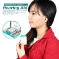 Bolso Amplificador de Som Aparelhos Auditivos para Perda Auditiva Severa Máquina de Volume de Voz Aparelho Auditivo Ajustável com Tampões # F-18