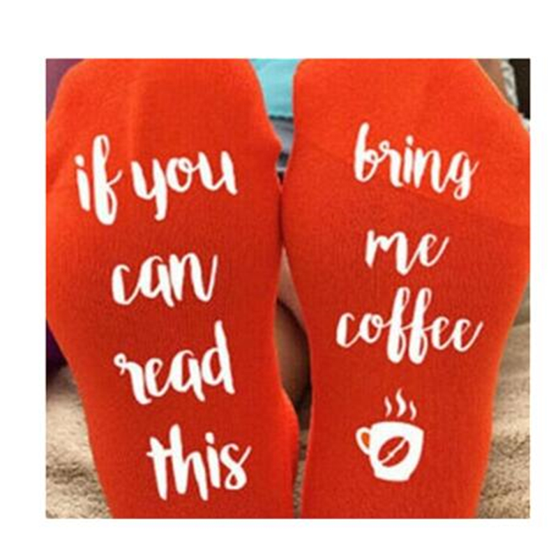 Christmas Socks Women If You Can Read This Bring Me A Glass Of Wine Socks Autumn Spring Fall 2017 New Arrival Funny Sock Winter