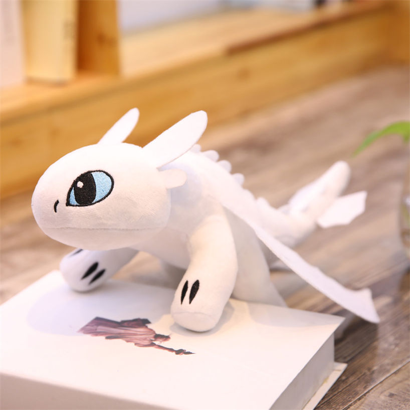 35cm/45cm How To Train Your Dragon 3 Night Fury Light Fury Plush Toy Toothless Stuffed Doll Toys Gift For Childre Anime Plush