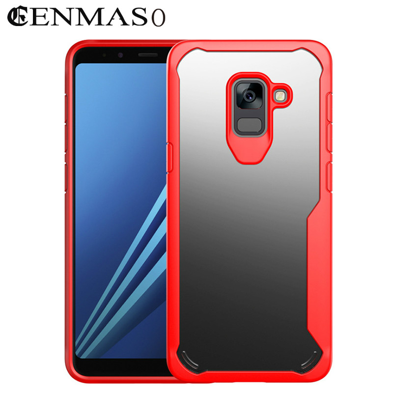 For Samsung Galaxy A8 2018 Case Capa A8 A8Plus Case TPU + PC New Transparent Luxury Cover for Samsung Galaxy A8 Plus 2018 Case