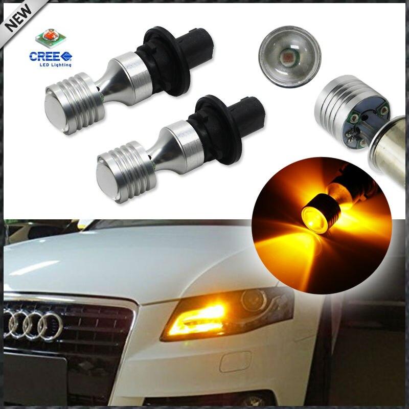 Prix pour (2) ambre Jaune Erreur Livraison PH24WY SPH24 12272 LED Ampoules Pour Audi Cadillac GMC, etc Pour Avant Clignotants Lumières