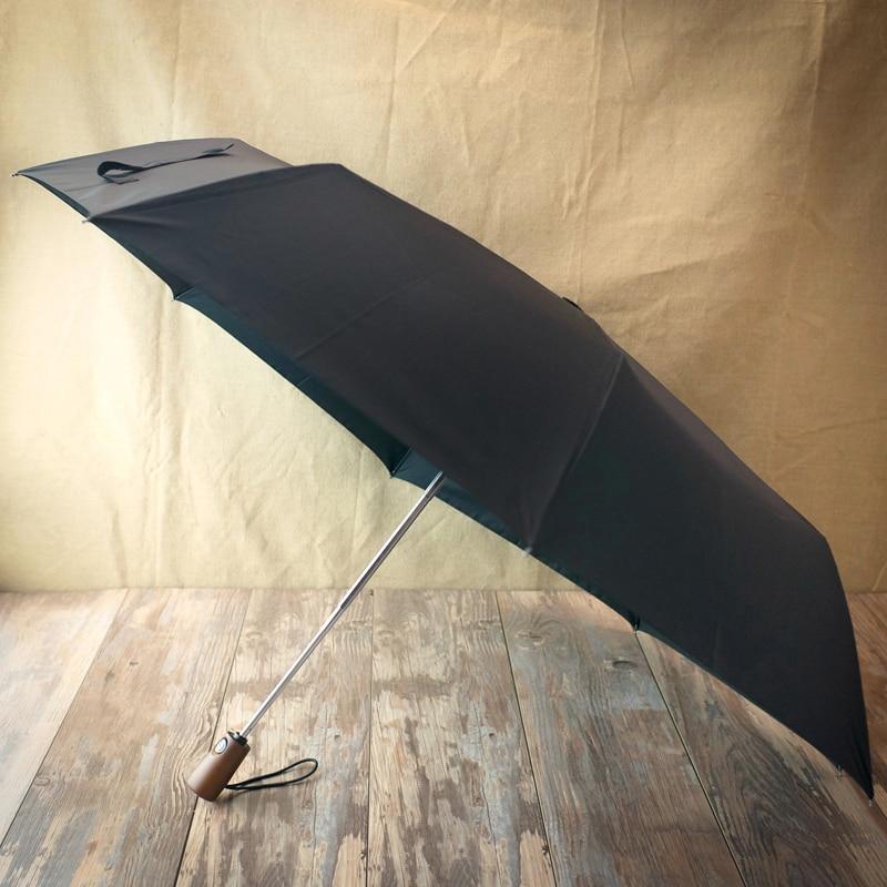122 cm Große Super Winddicht Holzgriff Regenschirm 3 Falten - Haushaltswaren - Foto 3
