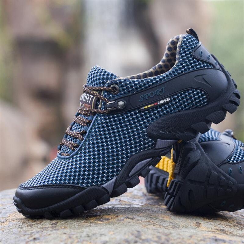 Man Hiking Shoes Waterproof Sneakers Travel Shoes Walking Shoes Men Breathable Non-slip Climbing Sports Water Shoes Trekking