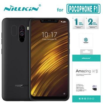 for Xiaomi POCOPHONE F1 Glass Nillkin 9H+ Pro 2.5D Tempered Glass Screen Protector 0.2MM Ultra-thin for POCO F1 Nilkin HD Glass