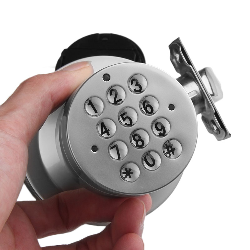 Keyless Electronic Digital Free Keys Door Lock Programmable Round Knob SN HR digital electric best rfid hotel electronic door lock for flat apartment