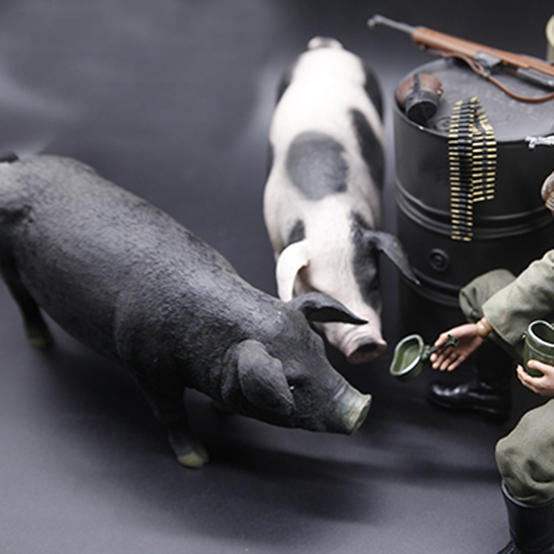 Mnotht 1/6 Pig Model For 1:6 Scale Solider Scene Accessories Fit For 12in Action Figure Toys l31 Collection Model Hobbies 1 6 scale scene annex mr z neapolitan mastiff 001 black dog collar set tabby animal model fit 12 inch action figure doll toys