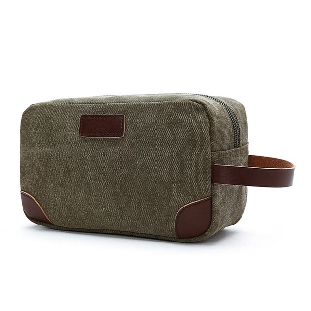 2019 New Men Canvas Travel Cosmetic Bag Fashion Multifunction Makeup Pouch Toiletry Case