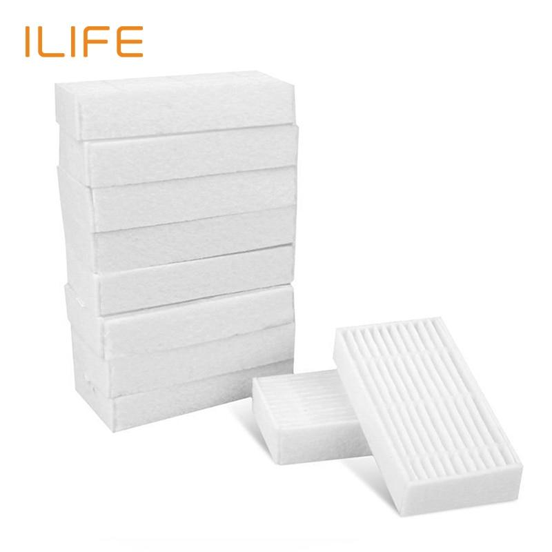 10 peças Filtro para ILIFE V5s Pro Robô Vácuo, Cleaner Kits de Substituição de Peças de Reposição