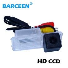 HD sensor de imagen CCD de vista trasera del coche que invierte la cámara traer lente de cristal 170 gran angular + línea de estacionamiento para Volkswagen GOLF 6/Magotan