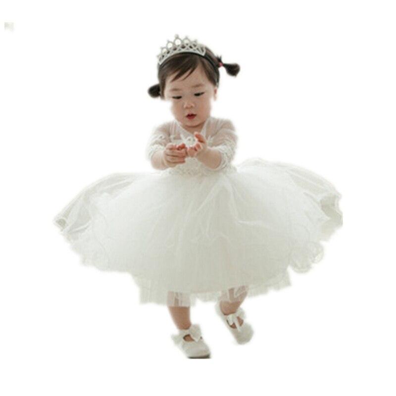 ФОТО BBWOWLIN Long Sleeves Flower Girl Dresses for 0-2 Years Flower Girl Vestido Infantil Roupas Infantis Menina 80217