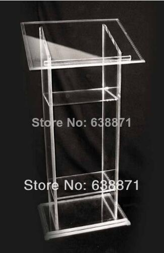 Free Shipping Hot Sell Pulpit Stand Acrylic Podium Conference Lectern Podium Workshop Series