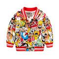 Cartoon Printed Children Jackets 2017 Fashion New Spring Costume Boys Cardigan 2-8 Years Kids Clothes Girls Outerwear Coat