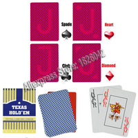 Perpsective Poker Cards XF Texas Hold Em Plastic Marked Cards Magic Glasses UV Contact Lenses Gamble Cheating