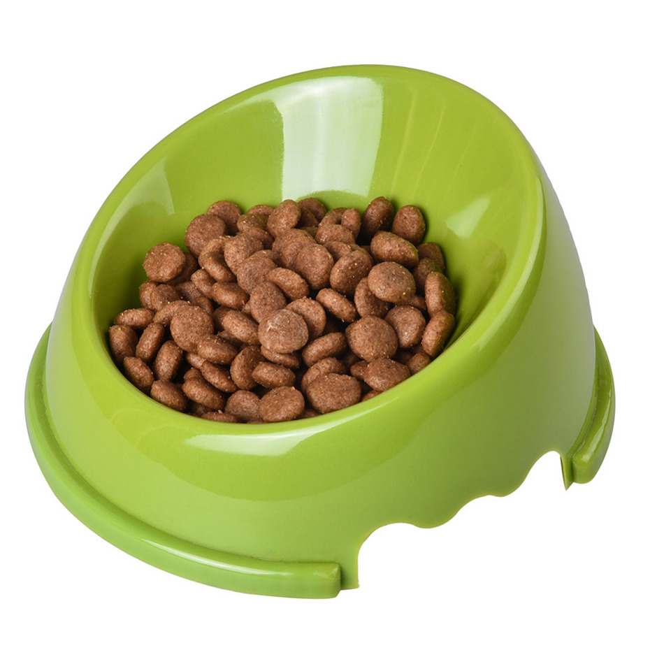 1 unids 14 * 14 * 3.5 cm Boca Oblicua Antideslizante Pet Dog Cat Food - Productos animales - foto 4