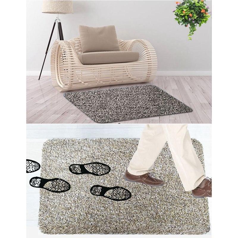Indoor Super Absorbs Doormat Floor Dirt Trapper Mats PVC Backing Door Mat For Human Pet Front Back Garage Door Floor Mud
