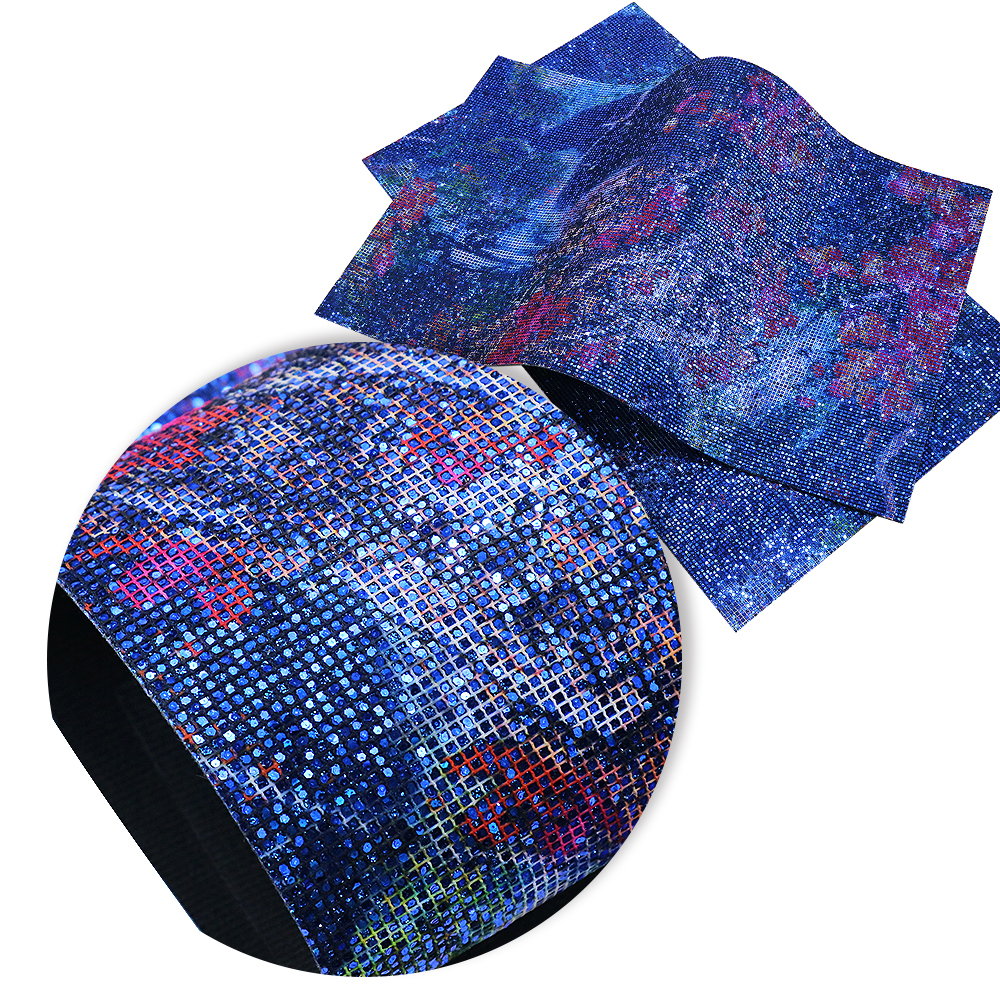 David accessories 20*34cm glitter faux artificial Synthetic leather fabric hair bow diy decoration crafts 1piece,1Yc3877
