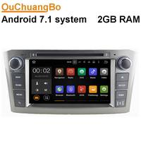 Ouchuangbo Auto Radio Audio Player Fit For Toyota Avensis 2005 2007 With Android 7 1 GPS